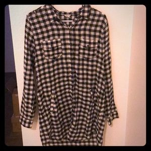 Forever 21  plaid button down dress.